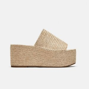 Zara Jute Platform Sandals